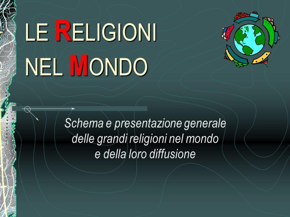 LE RELIGIONI NEL MONDO Schema e presentazione generale delle grandi religioni nel mondo e della loro diffusione.