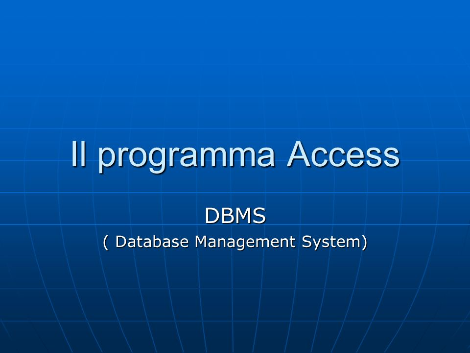 DBMS ( Database Management System)