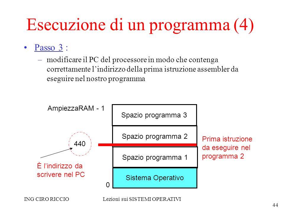 Esecuzione di un programma (4)