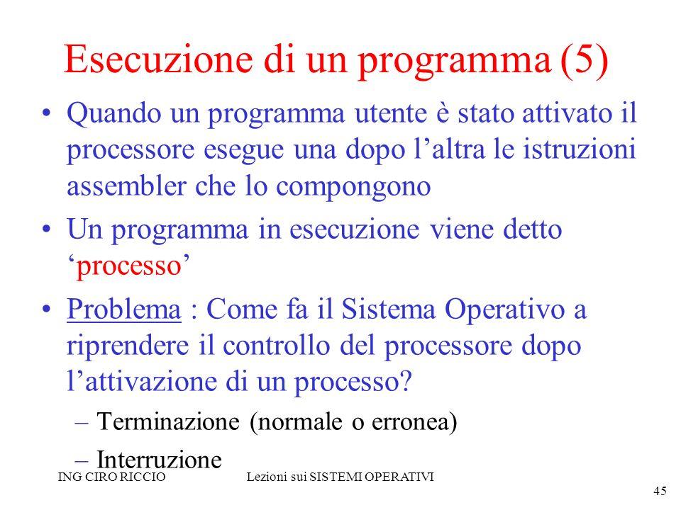 Esecuzione di un programma (5)