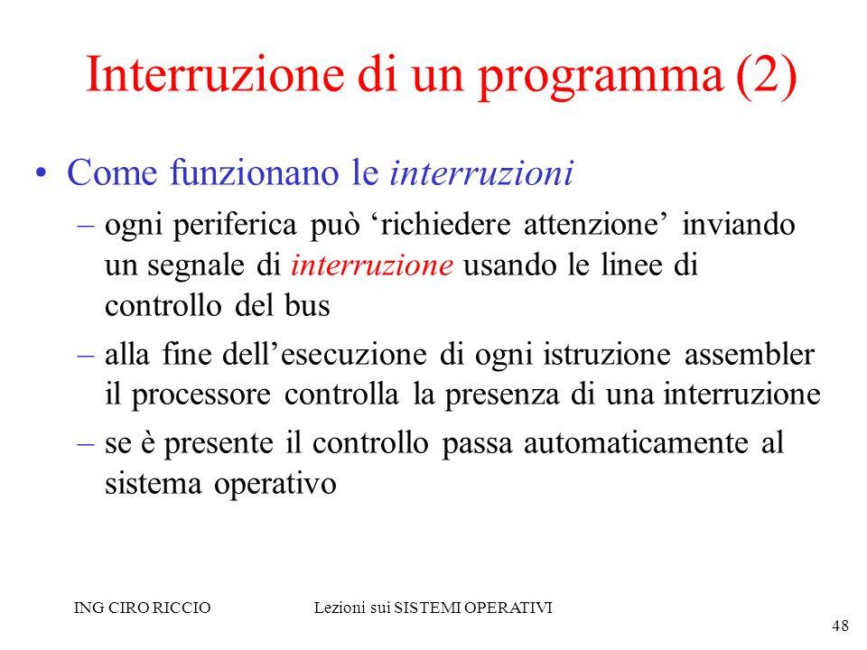 Interruzione di un programma (2)