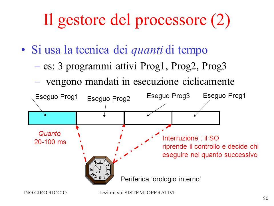 Il gestore del processore (2)