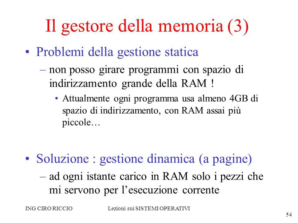 Il gestore della memoria (3)