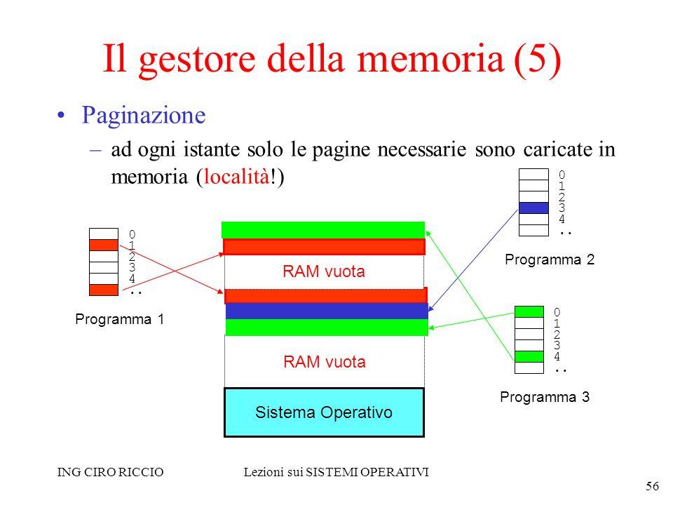 Il gestore della memoria (5)