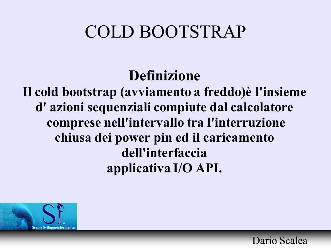 COLD BOOTSTRAP Definizione