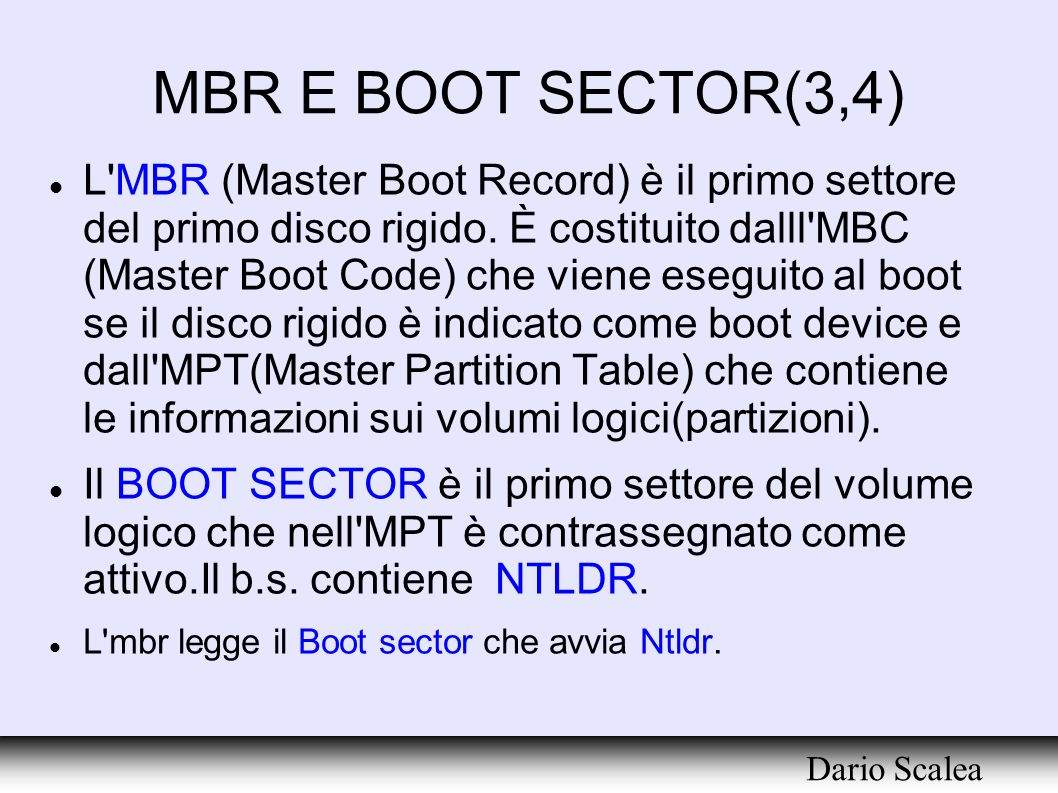 MBR E BOOT SECTOR(3,4)‏