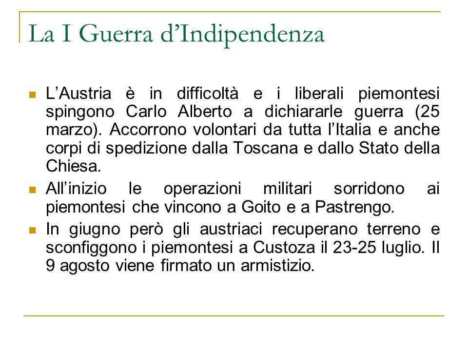 La I Guerra d'Indipendenza