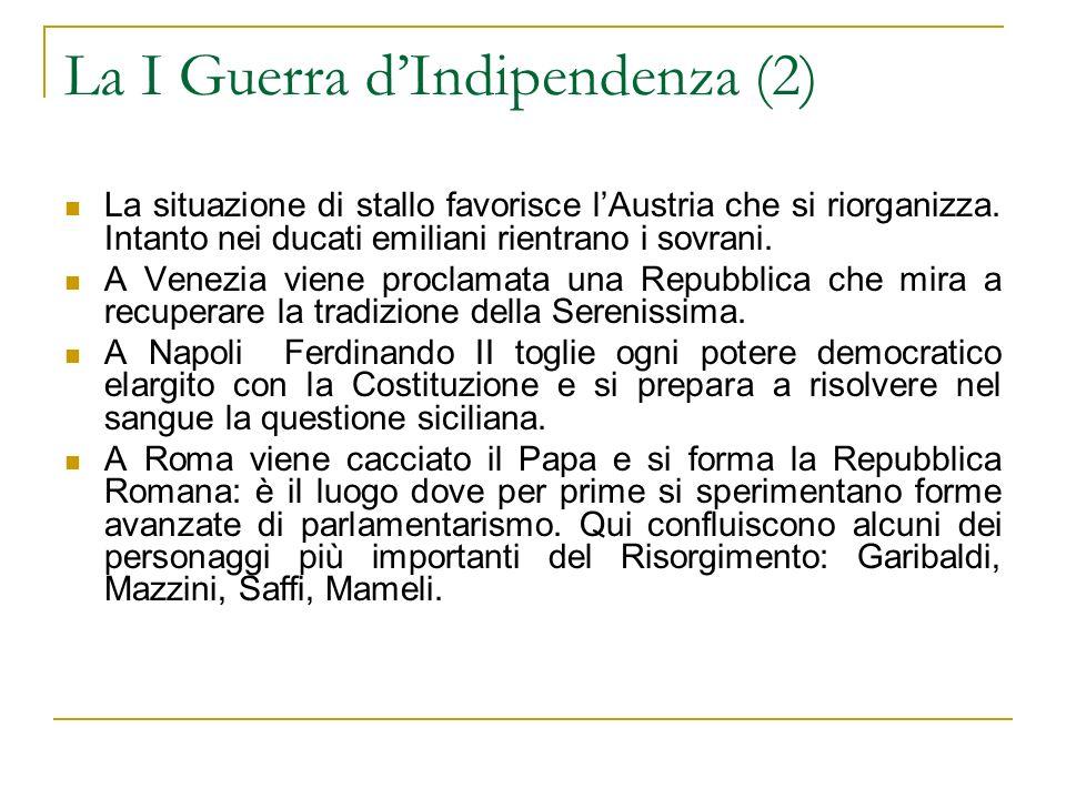 La I Guerra d'Indipendenza (2)