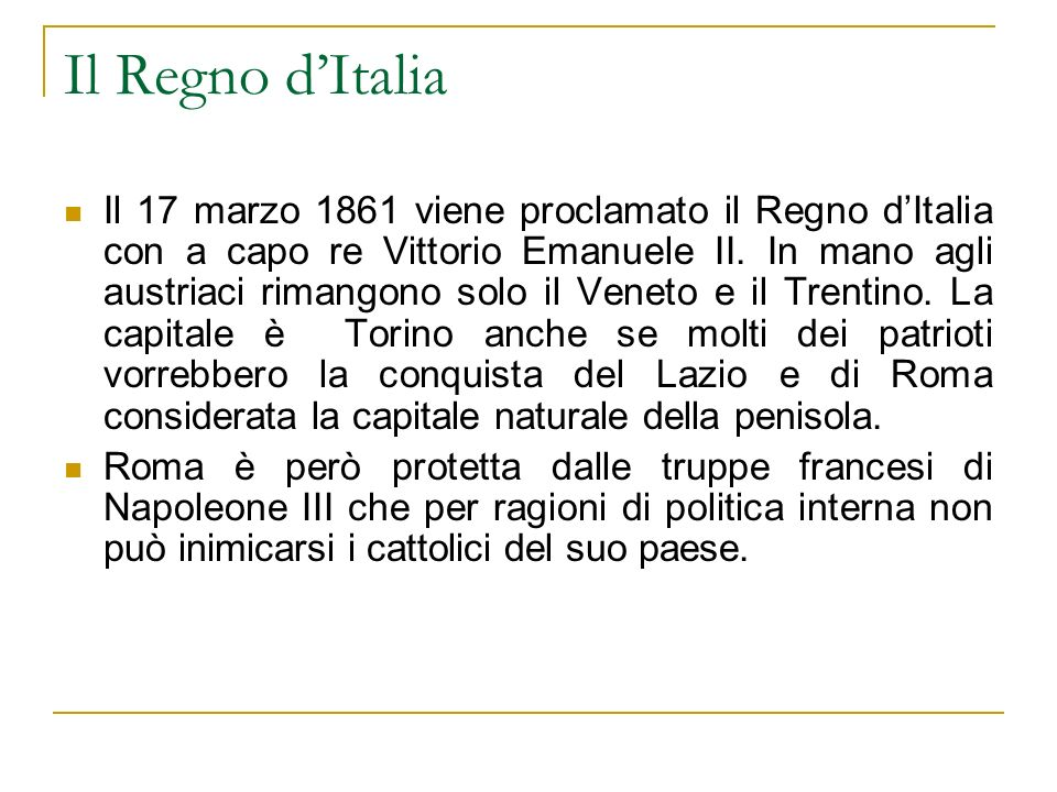 Il Regno d'Italia
