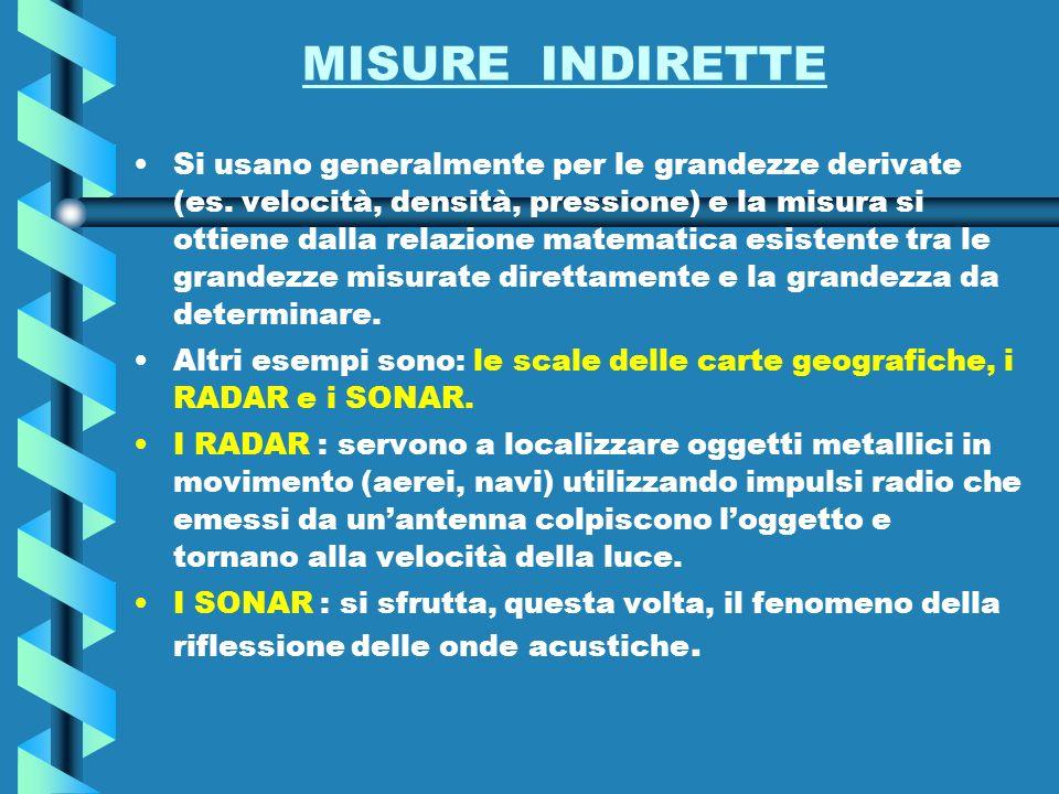 MISURE INDIRETTE