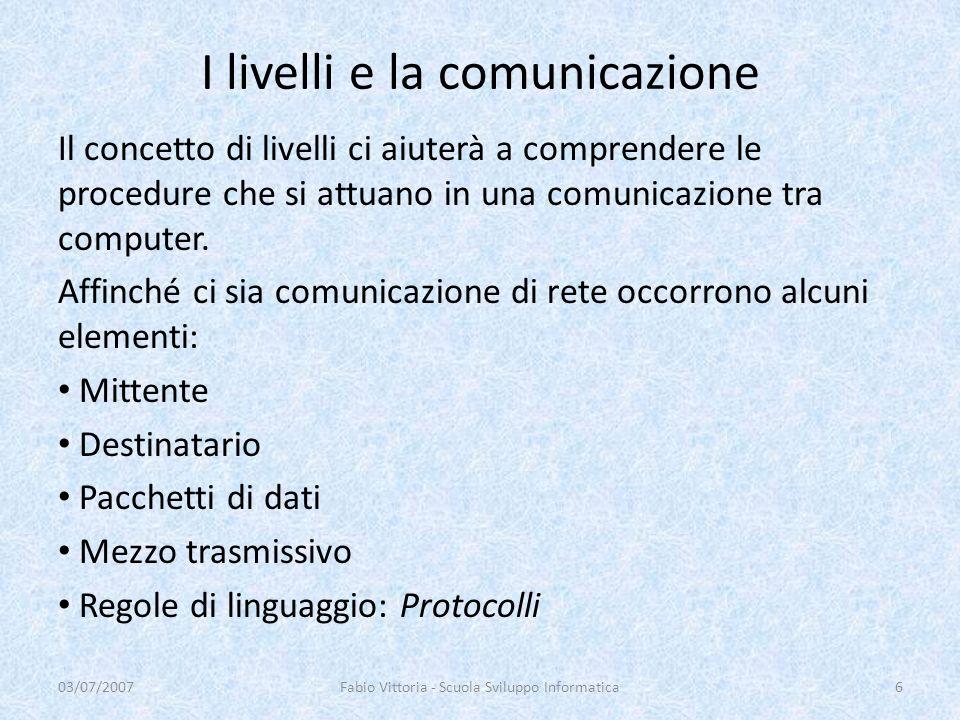 I livelli e la comunicazione