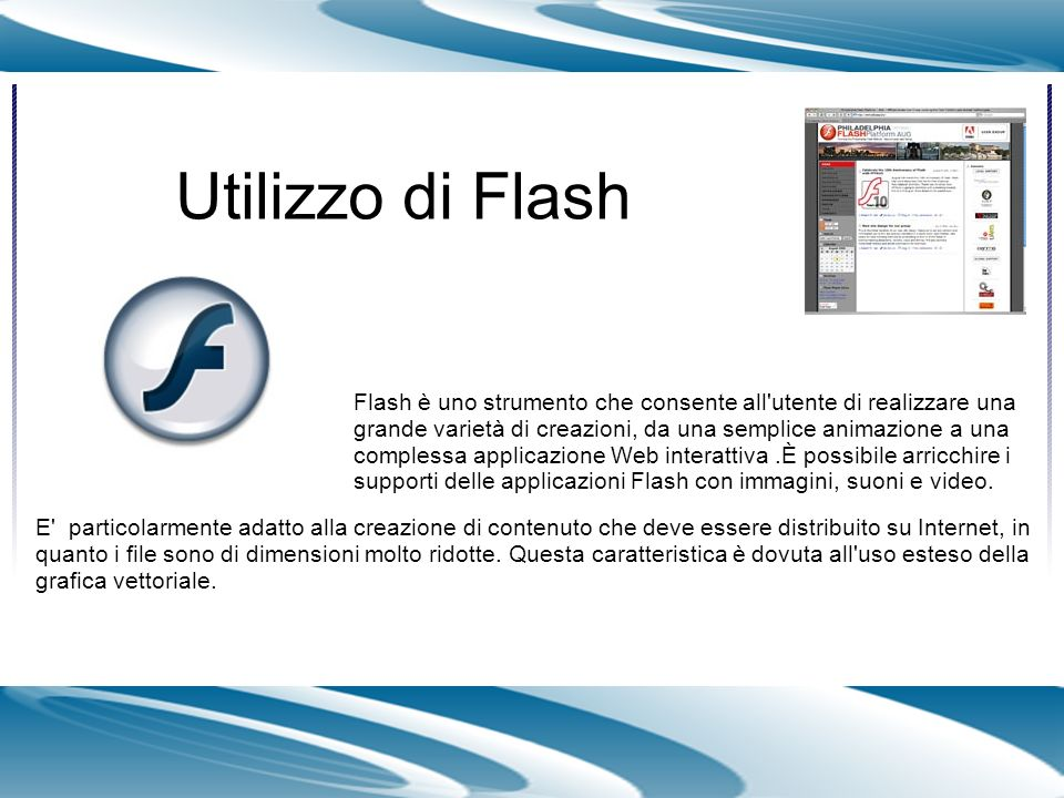 Utilizzo di Flash