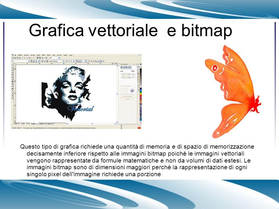 Grafica vettoriale e bitmap