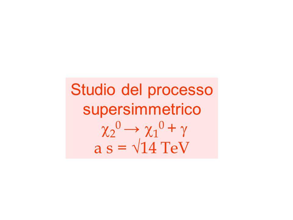 Studio del processo supersimmetrico c20 → c10 + g a s = √14 TeV
