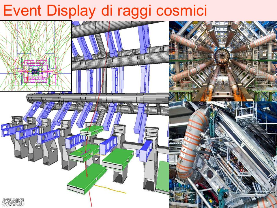 Event Display di raggi cosmici