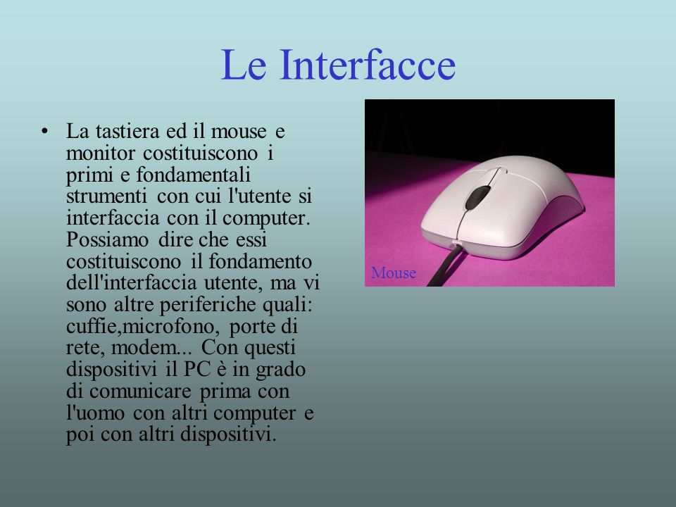 Le Interfacce