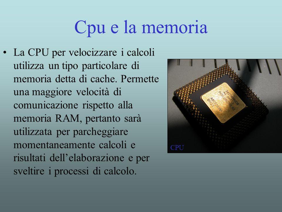 Cpu e la memoria