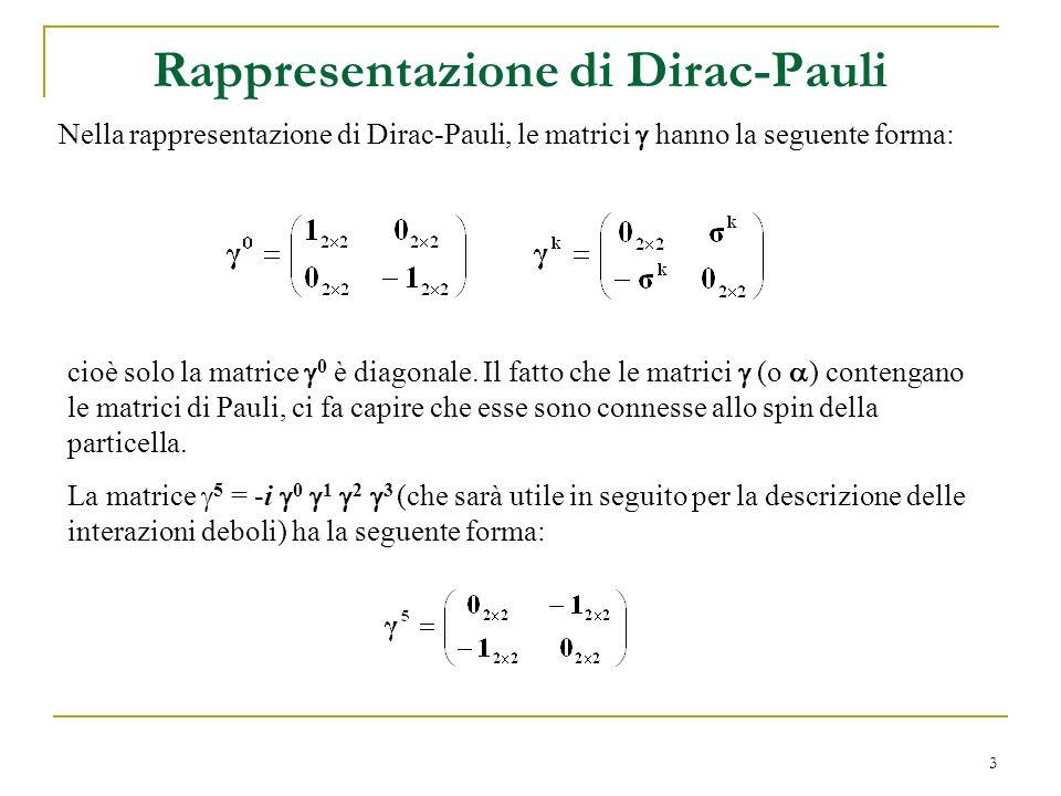 Rappresentazione di Dirac-Pauli