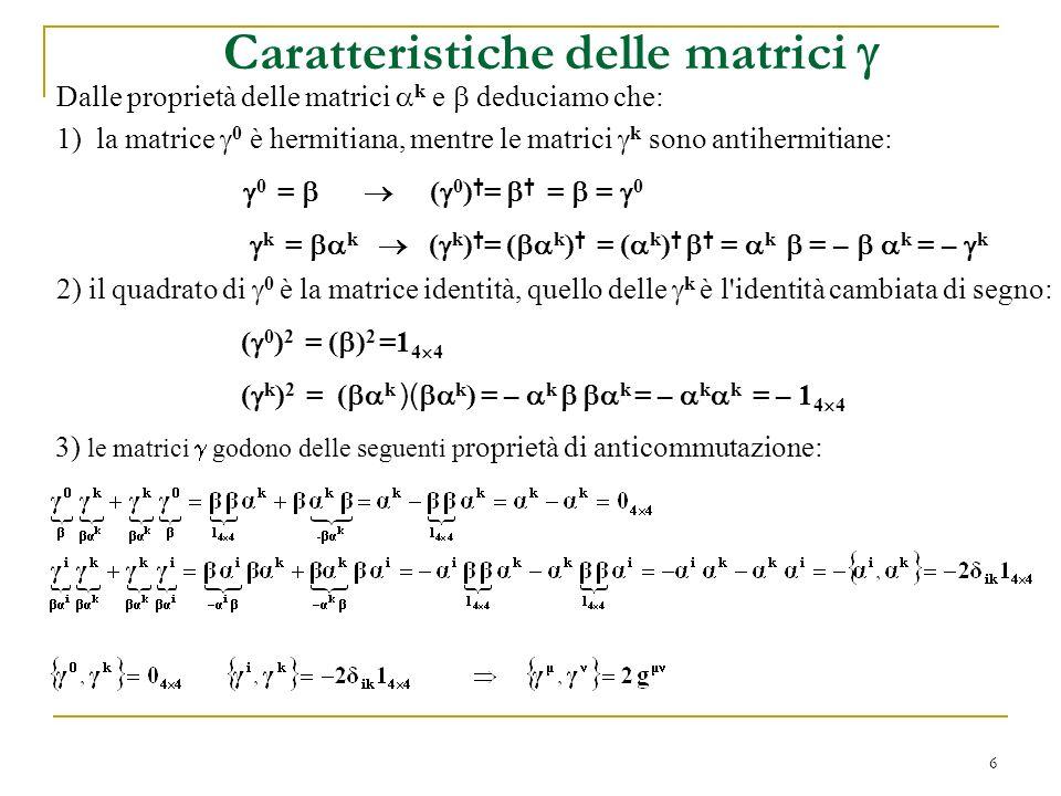 Caratteristiche delle matrici 