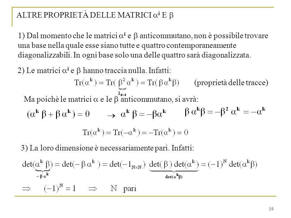 ALTRE PROPRIETÀ DELLE MATRICI ai E b
