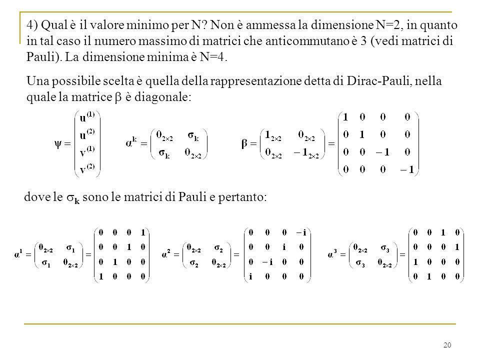 4) Qual è il valore minimo per N