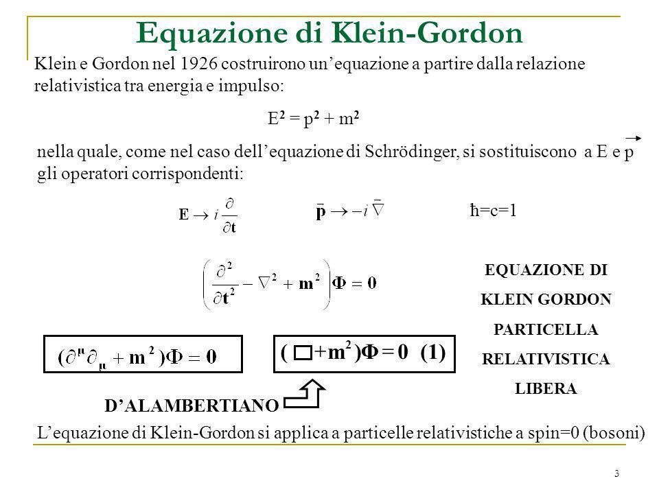 Equazione di Klein-Gordon