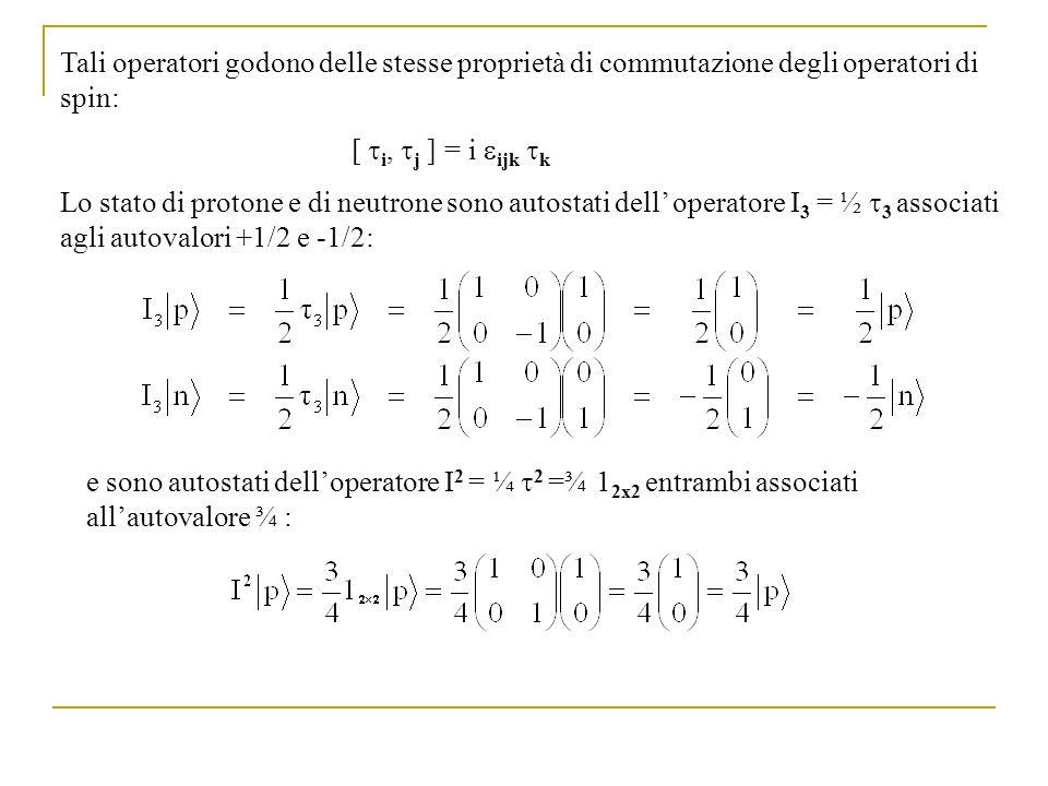 Tali operatori godono delle stesse proprietà di commutazione degli operatori di spin: