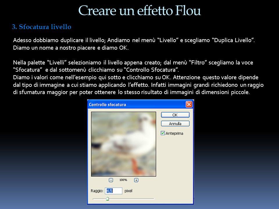 Creare un effetto Flou 3. Sfocatura livello