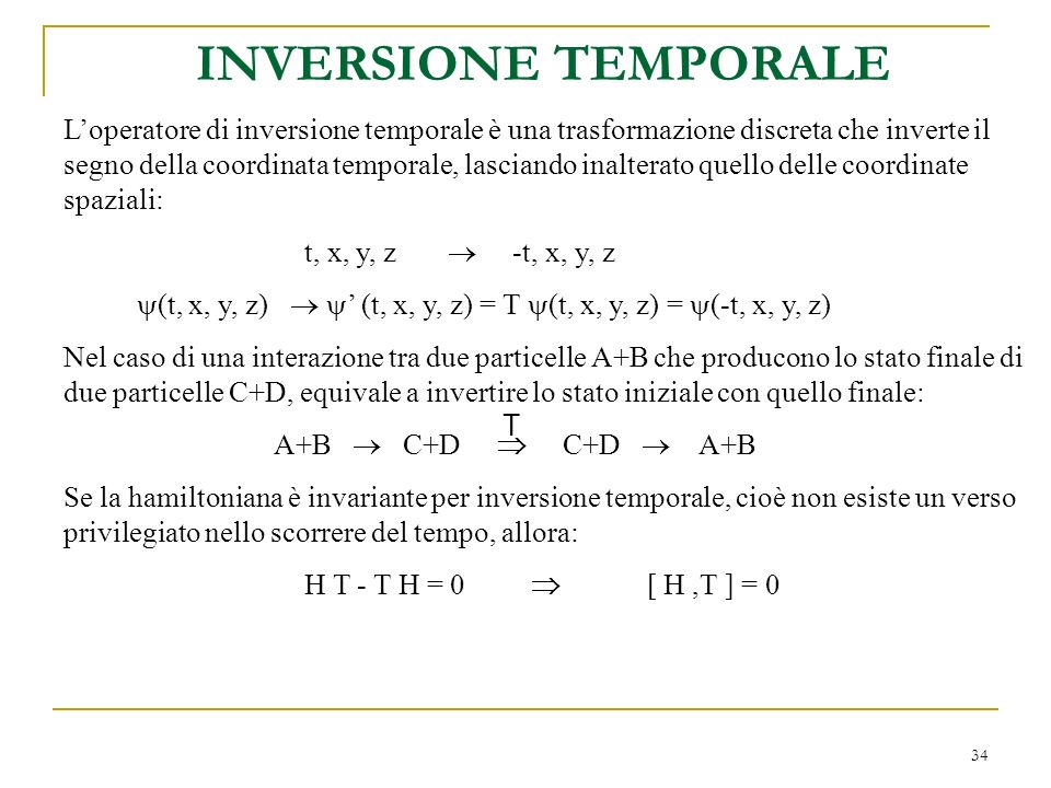 INVERSIONE TEMPORALE