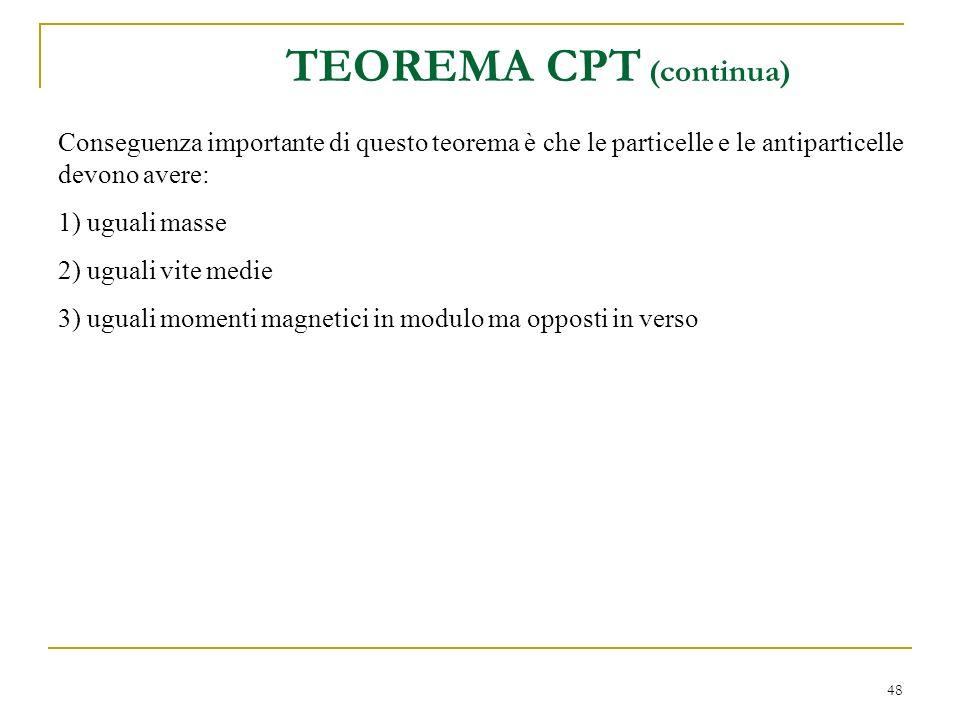 TEOREMA CPT (continua)