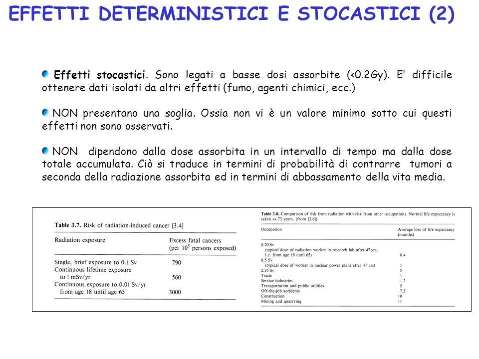 EFFETTI DETERMINISTICI E STOCASTICI (2)