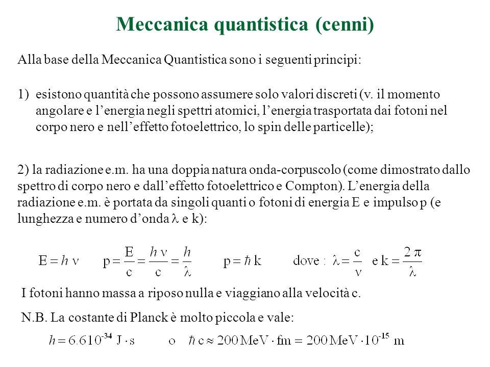 Meccanica quantistica (cenni)