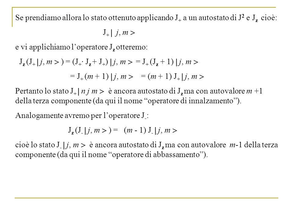 Se prendiamo allora lo stato ottenuto applicando J+ a un autostato di J2 e Jz cioè: