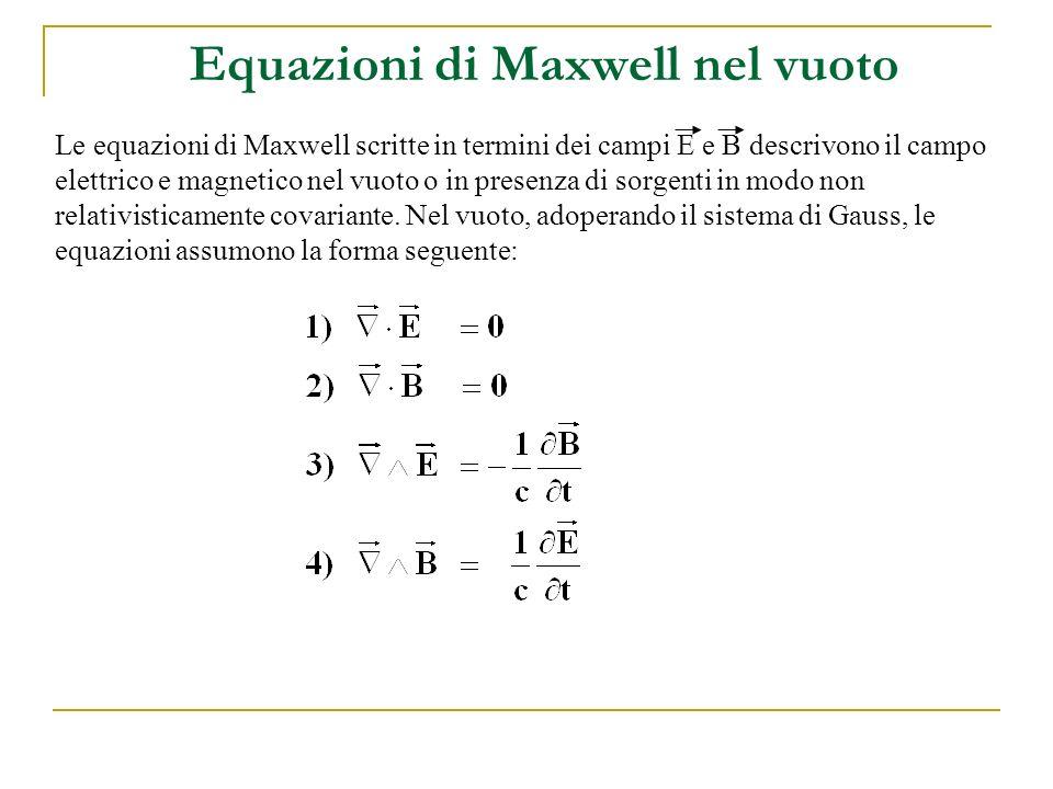 Equazioni di Maxwell nel vuoto