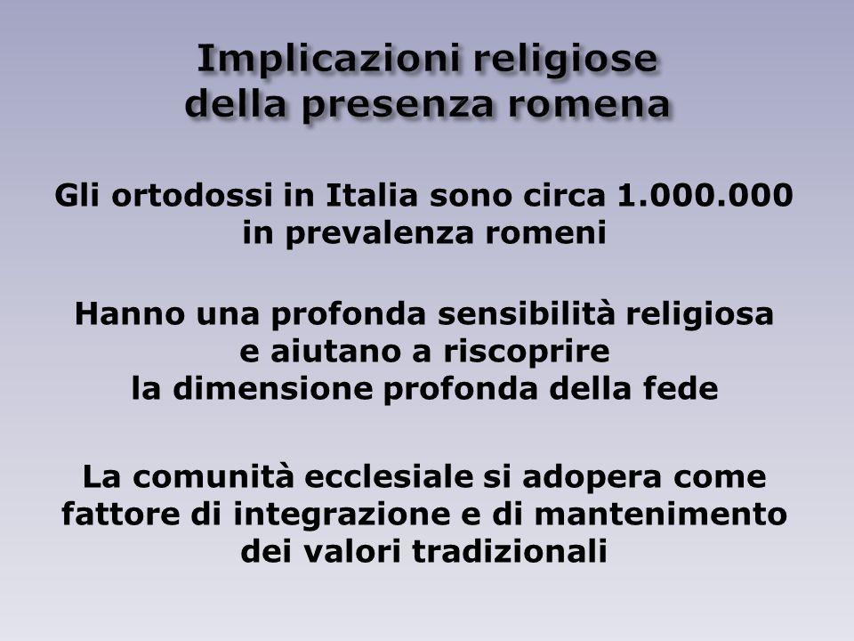 Implicazioni religiose della presenza romena