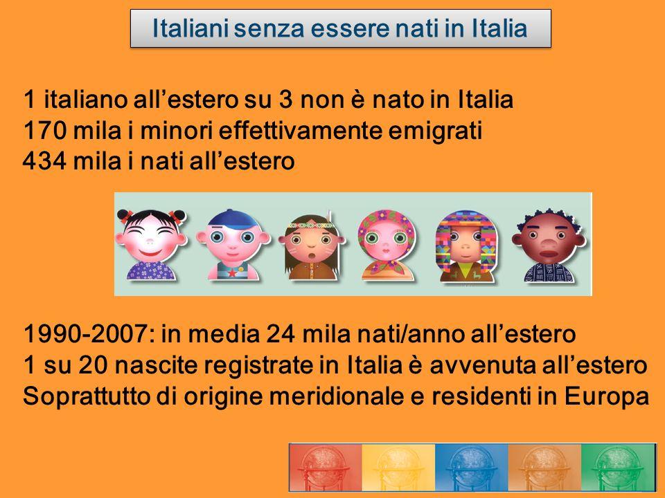Italiani senza essere nati in Italia