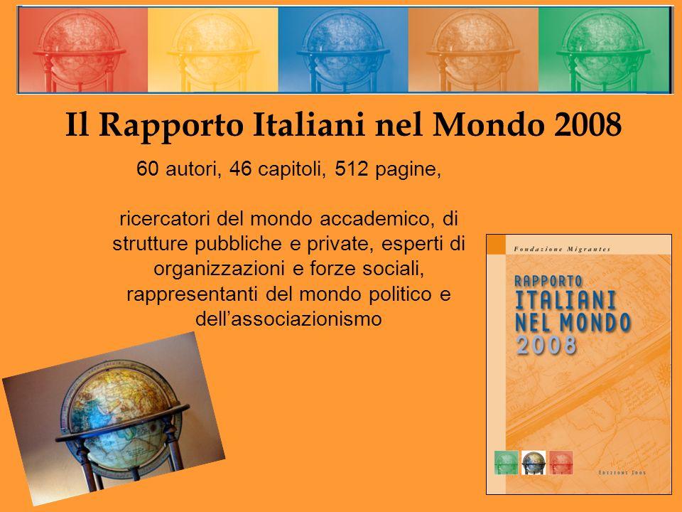Il Rapporto Italiani nel Mondo 2008