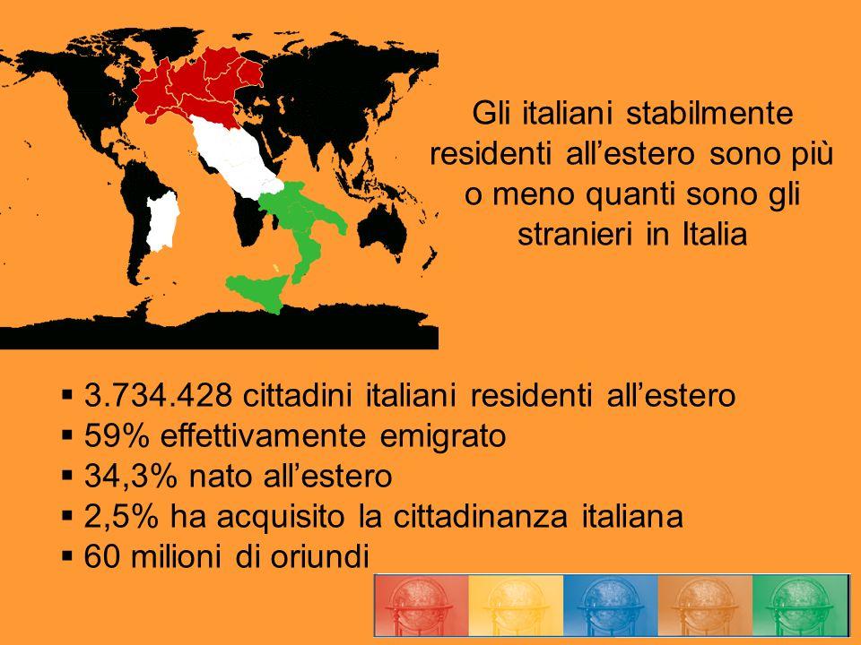 Gli italiani stabilmente residenti all'estero sono più o meno quanti sono gli stranieri in Italia