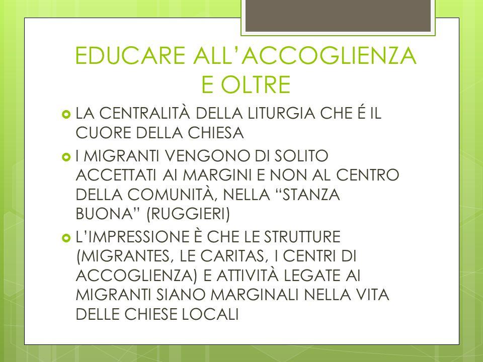 EDUCARE ALL'ACCOGLIENZA E OLTRE