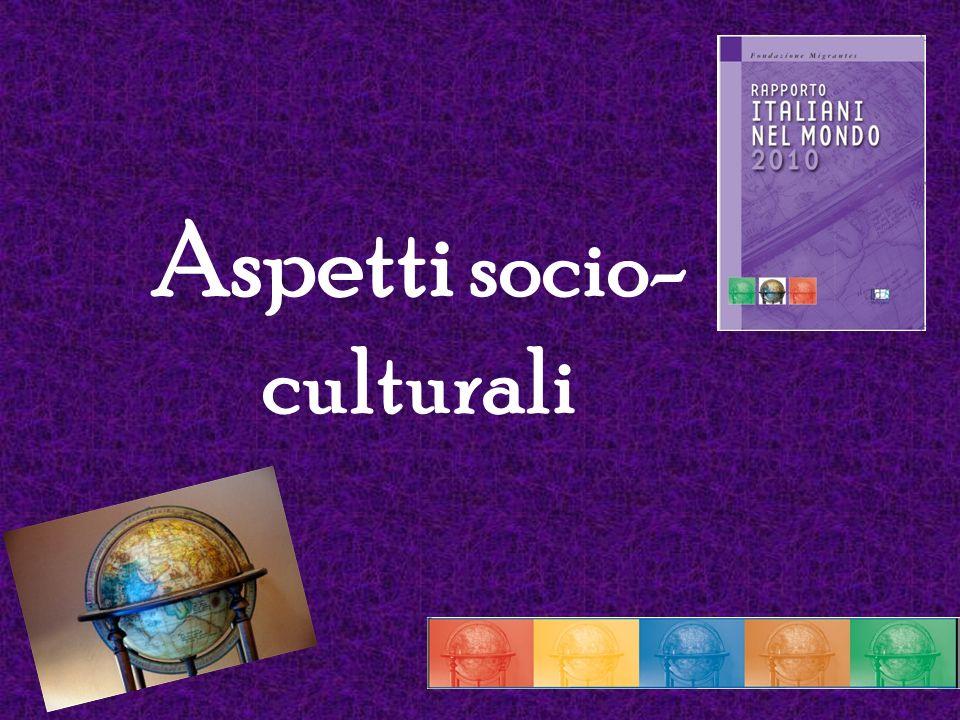 Aspetti socio-culturali