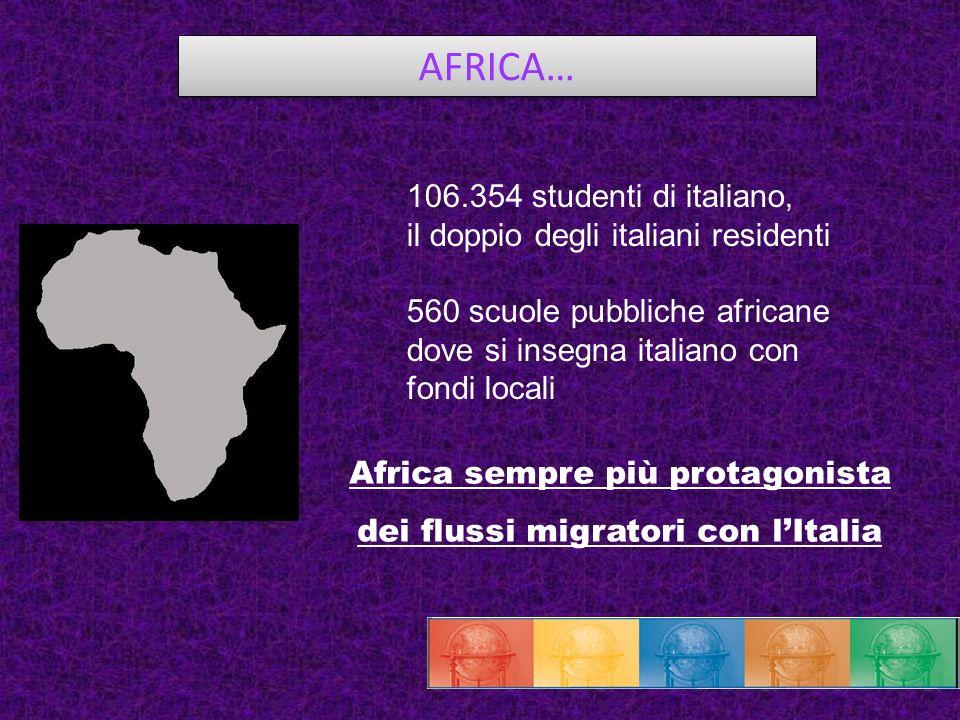 Africa sempre più protagonista dei flussi migratori con l'Italia