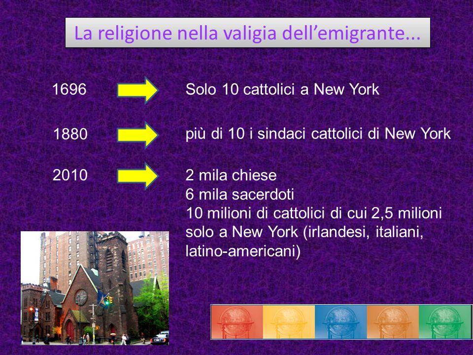 La religione nella valigia dell'emigrante...