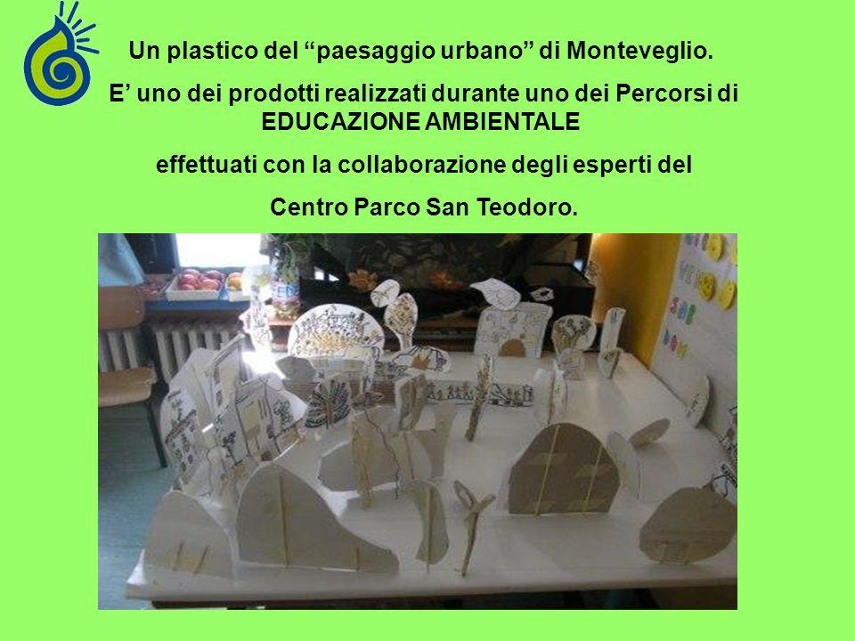 Un plastico del paesaggio urbano di Monteveglio.