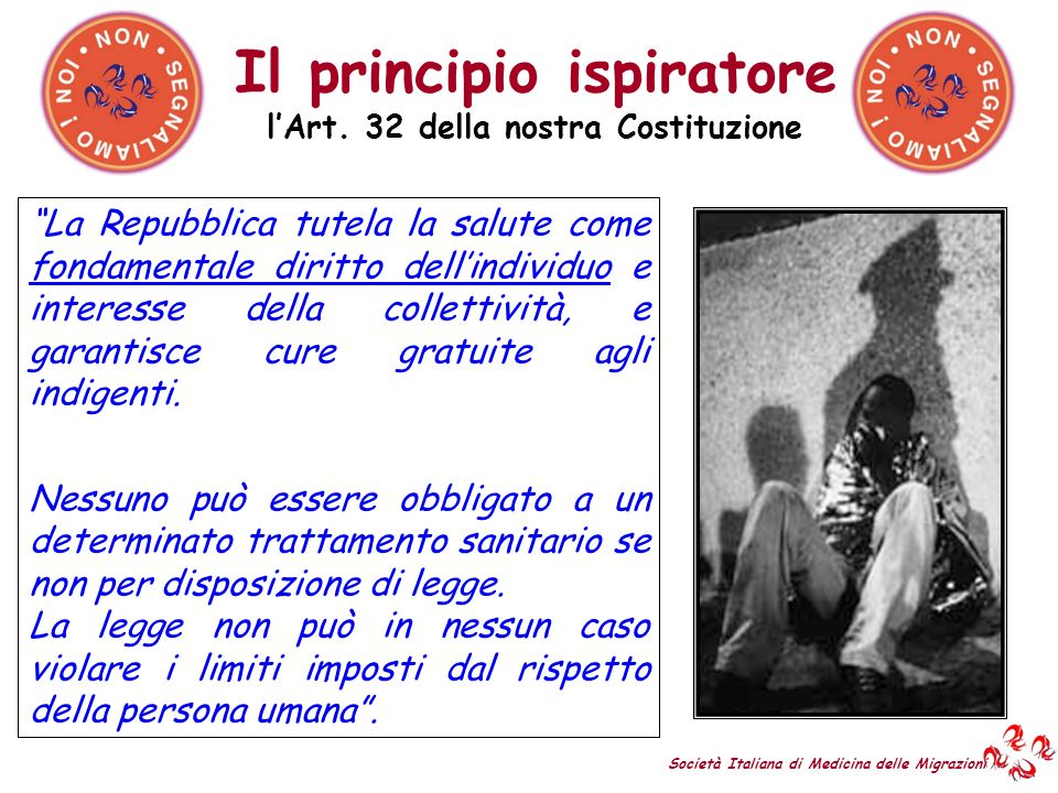 Il principio ispiratore l'Art. 32 della nostra Costituzione