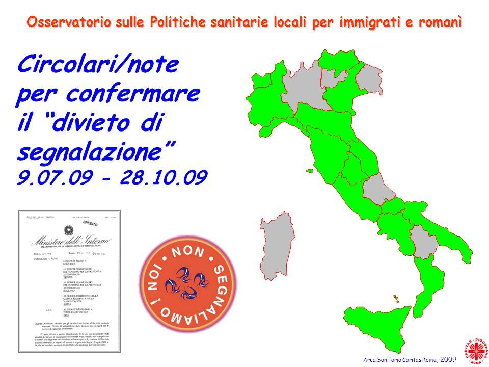 Osservatorio sulle Politiche sanitarie locali per immigrati e romanì