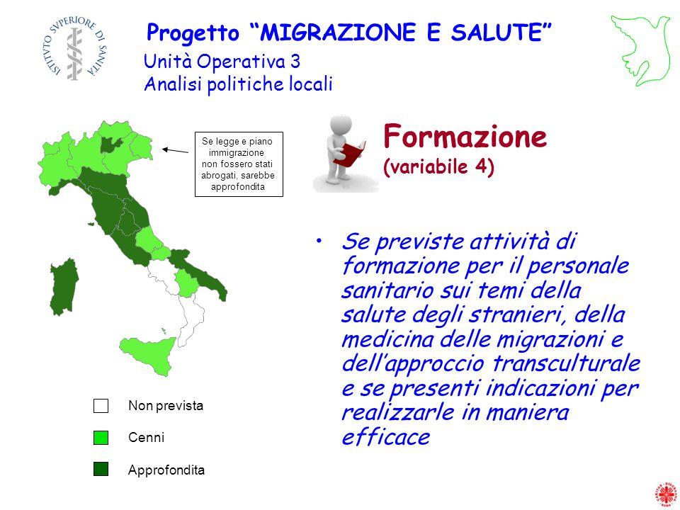 Formazione (variabile 4)