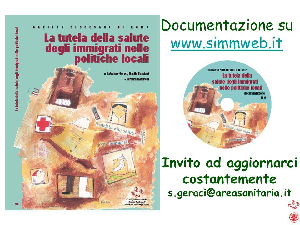 Documentazione su www.simmweb.it Invito ad aggiornarci costantemente