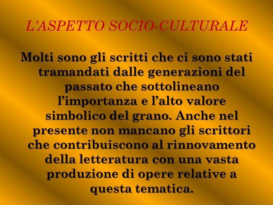 L'ASPETTO SOCIO-CULTURALE