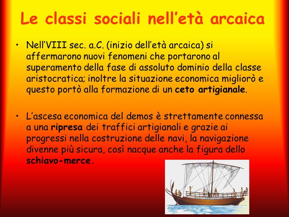 Le classi sociali nell'età arcaica