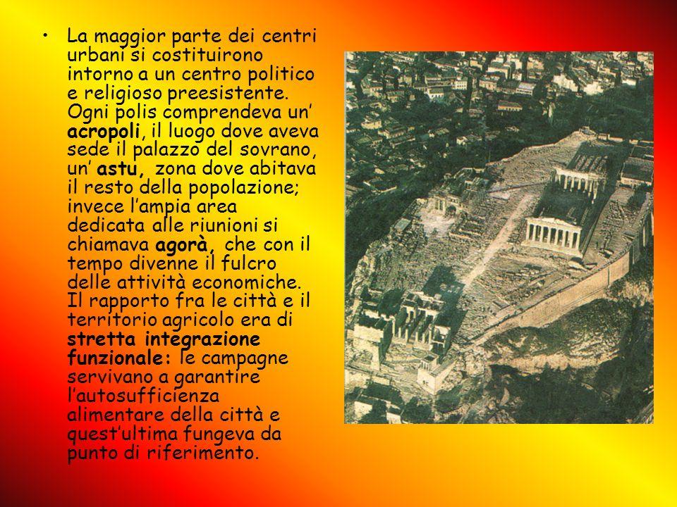 La maggior parte dei centri urbani si costituirono intorno a un centro politico e religioso preesistente.